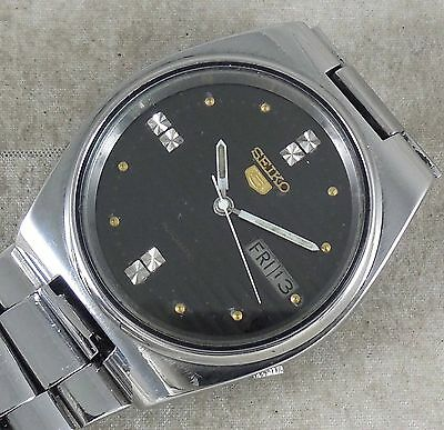 Vintage Seiko-5 Automatic Japan Mens Watch  Day & Date