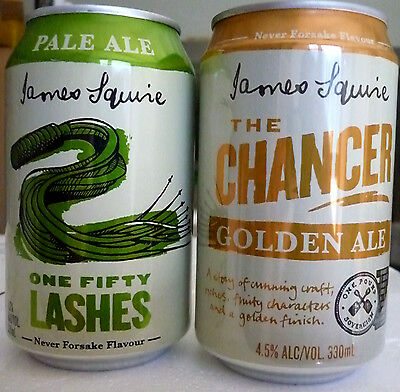 Collectable Beercans -  Set of 2 James Squire's 330ml cans (50 Lashes/Chancer)