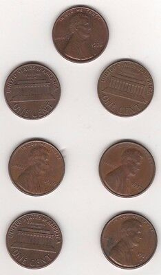 Date run of usa cents-1970 to 1976