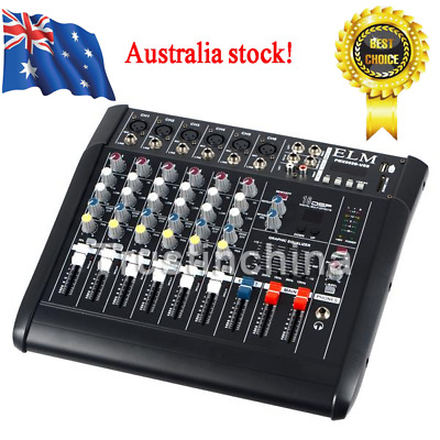 2000 Watt 6 Channel Professional Powered Mixer power mixing Amplifier Amp 16DSP