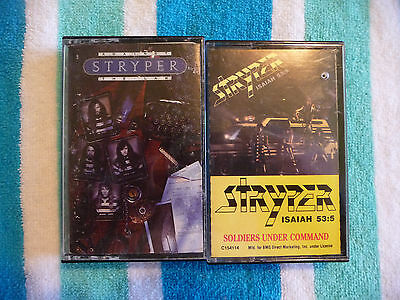 Lot of 2 STRYPER Cassette Tapes Against The Law & Soldiers Under Command