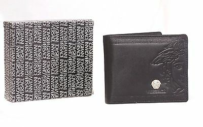 ⭐️ Christmas SALE ⭐️ New in Box VERSACE Black Leather Bi-Fold Mens Wallet ⭐️