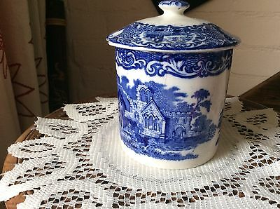 Blue And White China Pot And Lid By G Jones And Sons