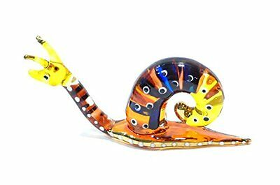 Handmade Snail Art Glass Blown Reptiles Animal Figurine - No.2