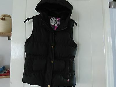 Girls Black  Hooded Gillet - Bnwt  10-11 Yrs