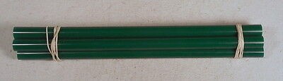 Beautiful rare lot of galalith green marbled 4 rods 120grams
