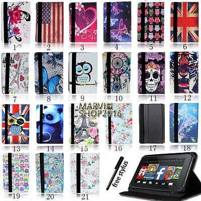 """Folio Stand Leather Cover Case For Amazon Kindle Fire 7"""" 8"""" 8.9"""" 10"""" Tablet"""