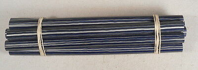 Beautiful rare lot of galalith blue marbled 8 rods 360grams