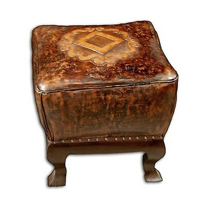 Silkroute STO014LS  Adelmo Leather Stool