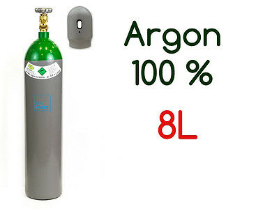 Argon Gas Bottle Cylinder 100% FULL 8 Liter 200 Bar Pure Gas Welding NEW