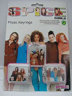 Spice Girls set of 3 photo keyrings brand new official licensed 1997 rare