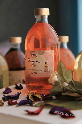 Sabon Shower Oil Rose Tea Scent 500ml S.L.S & Paraben Free With Free Shipping