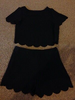 Girls Age 6-7 Dressy Top And Shorts Set