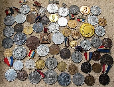 Large Collection Of Medals Victoria To Elizabeth  About 59 Total