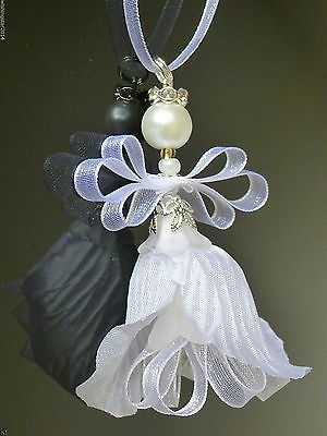 White Pearl FAIRY,GUARDIAN ANGEL;Send a Wish;organza;Christmas tree/Bridal,Gift