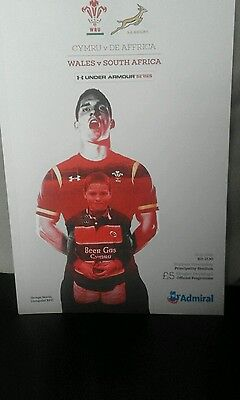 Rugby union programme ( Wales v S.Africa )