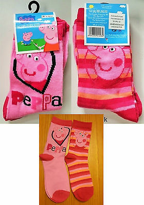 PEPPA PIG CHARACTER KIDS SOCKS 2 pairs included Christmas Birthday Party Gift