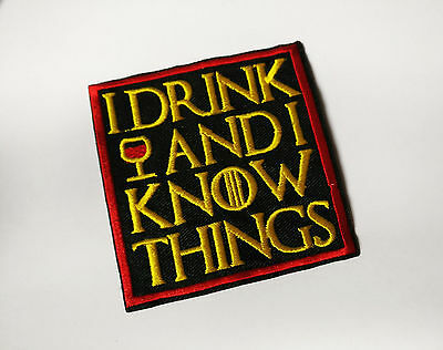 """Game of Thrones """"I drink and I know things"""" Aufnäher / Patch - Tyrion Lannister"""
