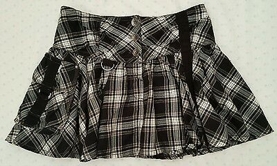 Girls NEXT Age 11 years cute check flippy skirt. Excellent Condition
