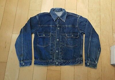 "True Vintage 1950's 2 Pocket Big E Levi Jacket 507XX  40"" Excellent Condition"