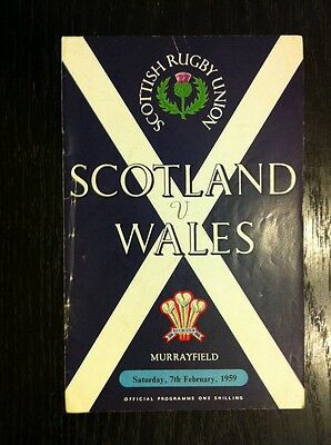 SCOTLAND v WALES 1959 RUGBY PROGRAMME