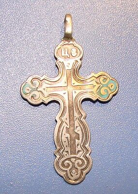 Ancient SILVER Cross Middle Ages. Original