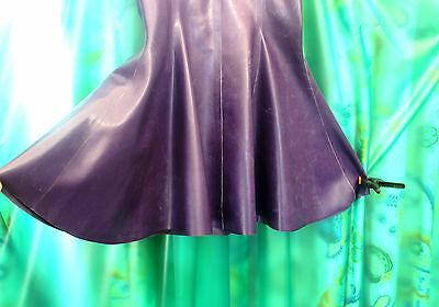 SKIN TWO London Ladies / T/V  purple latex mini dress party clubbing dress siz M