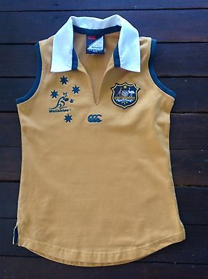 Retro Wallabies Supporter's Jersey, Sleeveless, Summer, Boy Size 10, Rugby Union