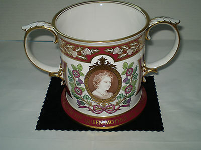 Fine Spode Loving Cup 'The Royal 80th Birthday of H.M. The Queen Mother- Ltd Ed