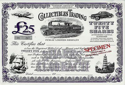 Collectibles Trading Public Limited Company, 199_ - SPECIMEN (25 Pfund L.Ed.)