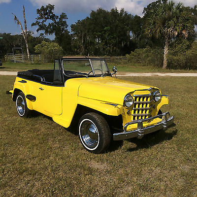 1950 Willys Jeepster Chrome 1950 Willys Overland Jeepster nice driver V-6 Automatic