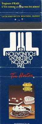 Tim Horton Match Book Cover ( French)