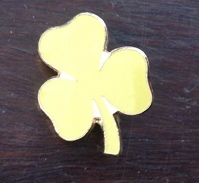 Girl Guides Metal Pin On Yellow Trefoil Badge