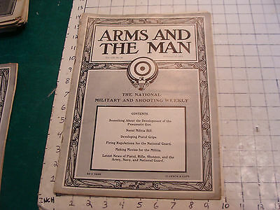 Vintage Magazine: ARMS and the MAN: NRA-1913 feb 13; naval militia bill, movies