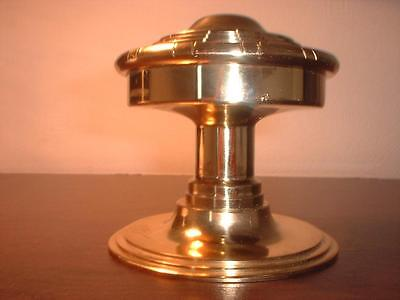 An Extra Large Heavy  Re-Production Yellow Brass Centre Door Knob Ex Display