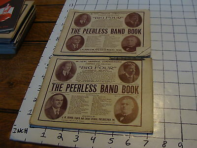 BAND BOOKS: 2 THE PEERLESS BAND BOOK, big four 30 compositions,