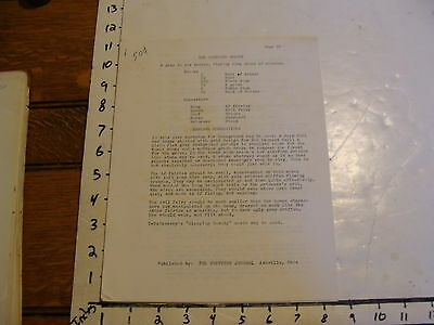 Vintage Puppet Script: THE SLEEPING BEAUTY pub. by THE PUPPETRY JOURNAL