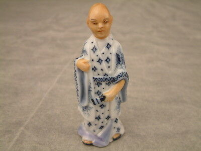 Antique Hand Painted Porcelain Chinese figurine Ernst Bohne Sohne, Germany C1887