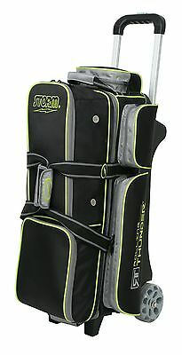 Storm Rolling Thunder 3 Ball Bowling Roller Bag Color Black/Grey/Green