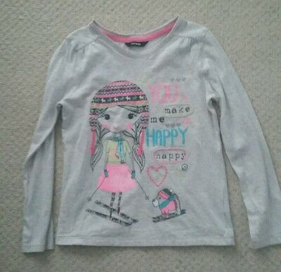 Girls George Grey L/Sleeved Top Size 6-7 Years