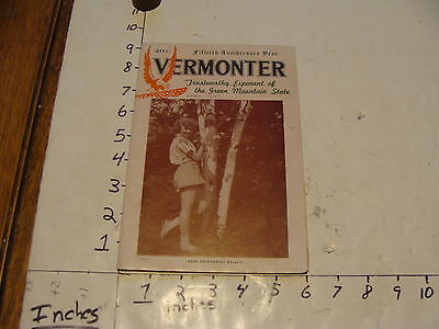 Vintage Travel Paper--THE VERMONTER--may 1945 MT. Mansfield
