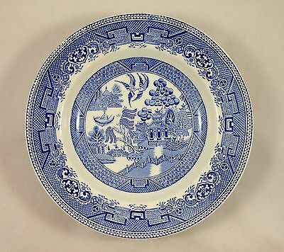 Vintage Blue Willow China Large Round Bowl Serving Dish Myott Son & Co England