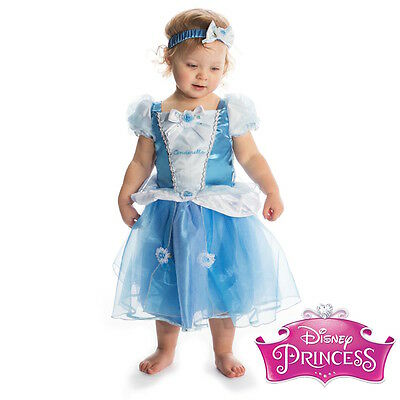 New Girls Baby Toddler Disney Princess Cinderella Fancy Dress Costume Outfit