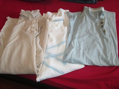 bundle of 3 mens casual t-shirts, Blue harbour size Large, winter layering,