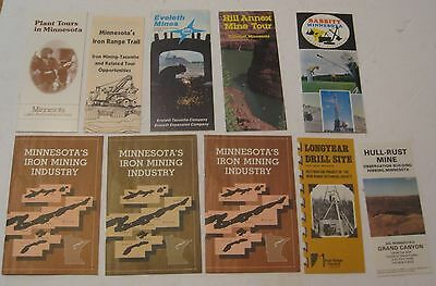 10 Vintage Minnesota Mining & Steel Advertising Booklets ~ Great Mixed Lot ~