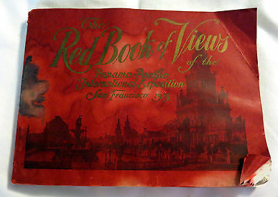 1915 The Red Book of Views Panama-Pacific International Exposition Booklet