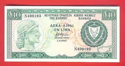 10 CYPRUS POUNDS 1983 - Circulated.