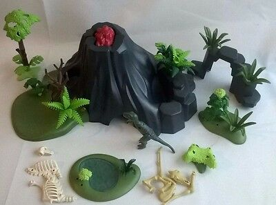 Playmobil Volcano Set With BROKEN DINOSAURS Kids Gift Play INCOMPLETE Toy Bundle