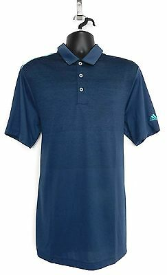 ADIDAS Men's Golf ClimaCool Ombre Stripe Polo Shirt (Mineral Blue) - M