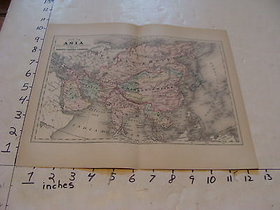 vintage map Johnson's Cyclopaedia: MAP OF ASIA